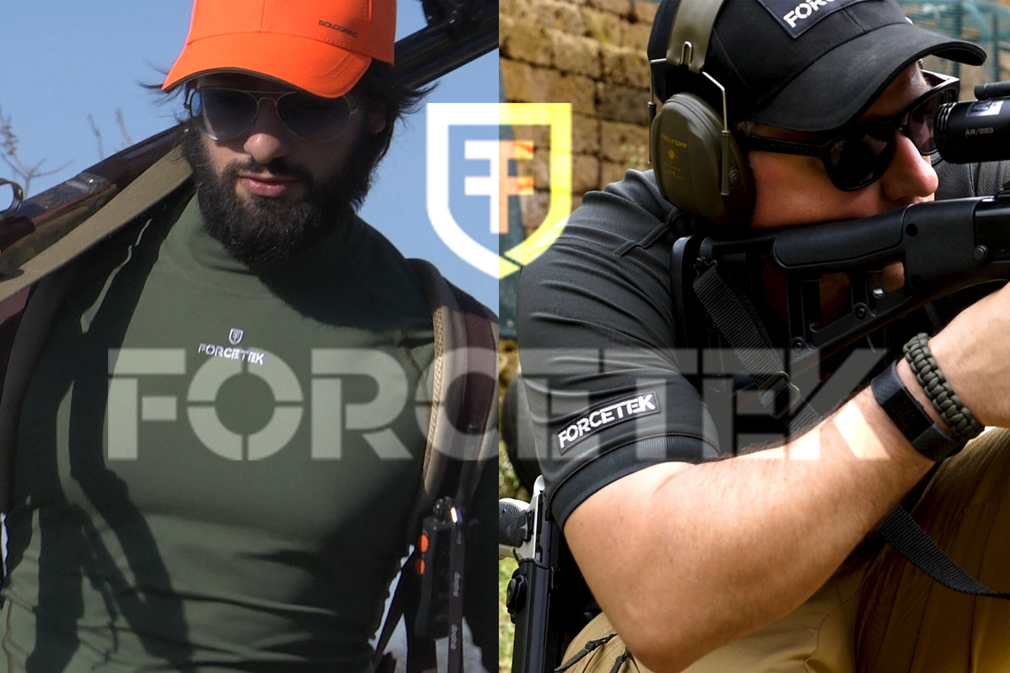 Hunter and shooter with Forcetek clothing.
