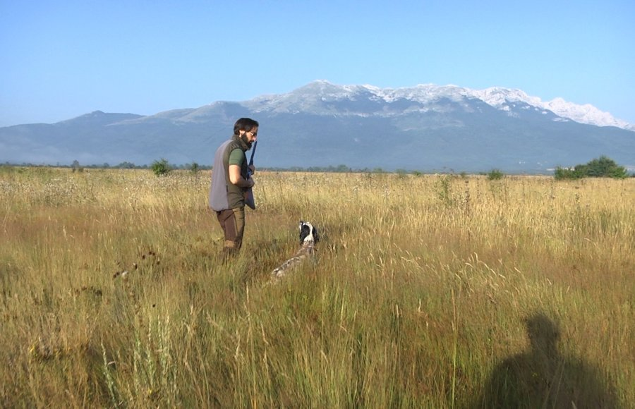 A Hunter with his dog in Bosnia Herzegovina