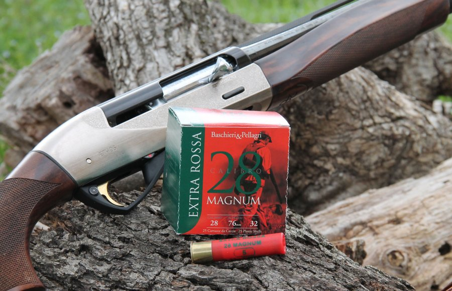 Baschieri & Pellagri Extra Rossa cartridges with Benelli Ethos 28 Magnum rifle.