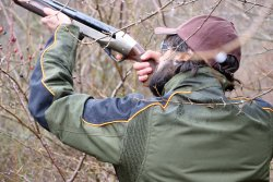 hunter testing the Baschieri & Pellagri 28 gauge Magnum Extra Rossa series cartridge