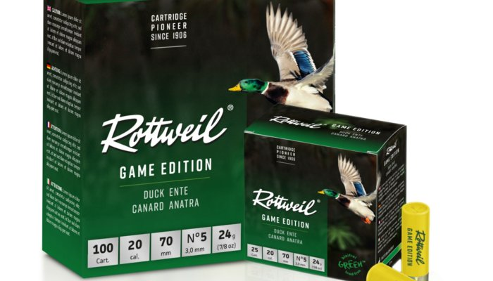rottweil-ammunition: Rottweil's Game Edition new 20-ga and 12-ga cartridges, taylor-made loads