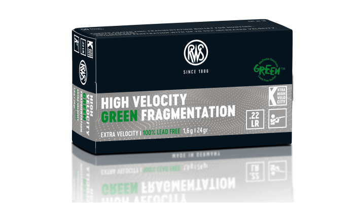 rws-ammunition: Lead-free .22 LR rimfire cartridges from RWS for hunting and sport - High Velocity Green and HV Green Fragmentation