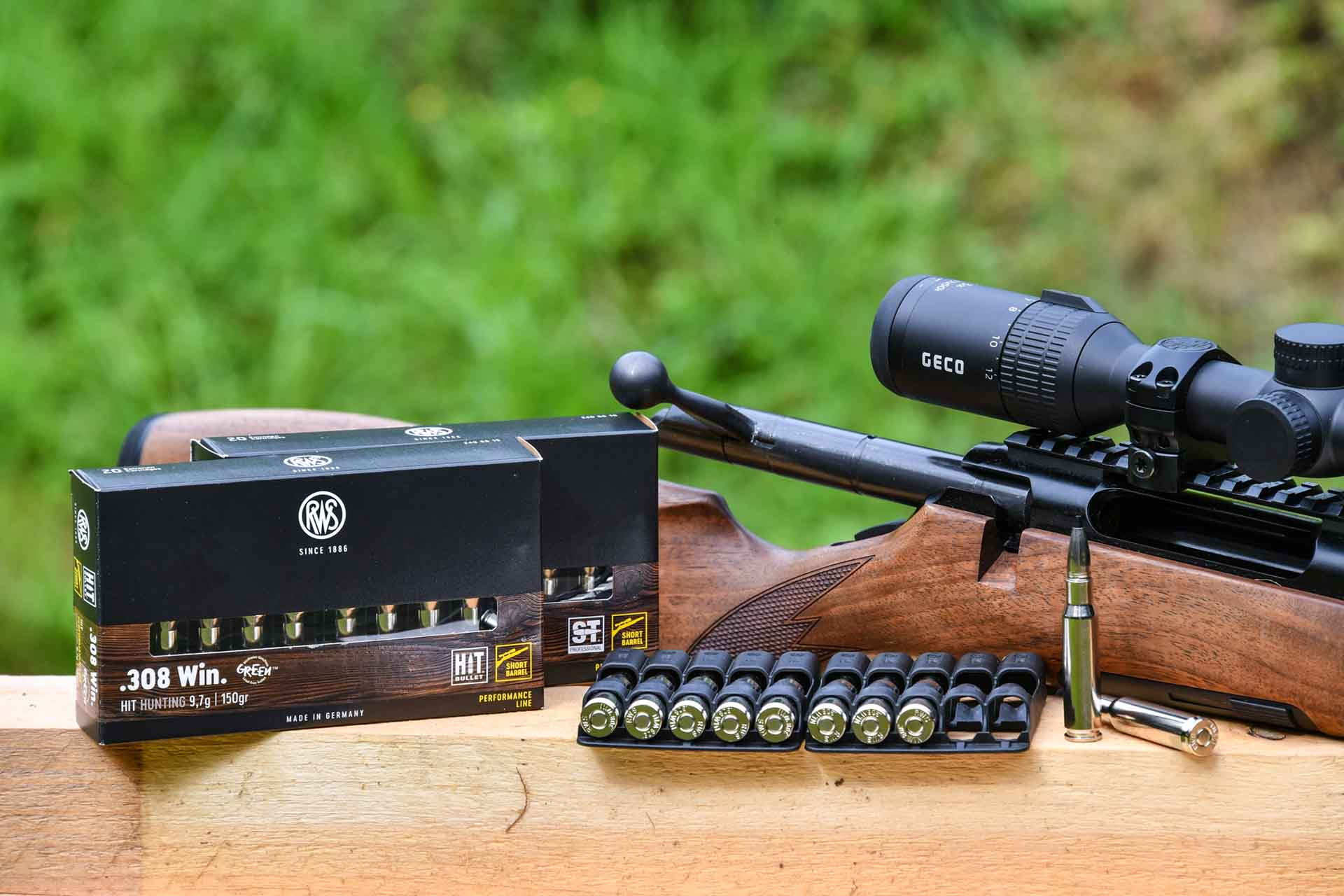 RWS Short Rifle ammunition with rifle