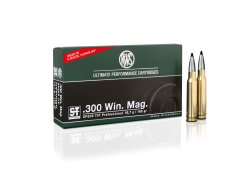Ammunition RWS Speed Tip Pro in the caliber .300 Win. Mag.