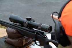 Blaser Infinity riflescope on hunting rifle