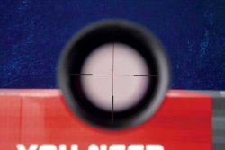 The illuminated dot on the GECO Gold riflescope