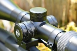 Adjustment turrets on the GECO Gold riflescope