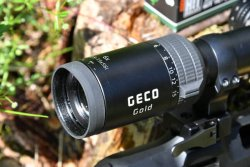 Eyepiece on the GECO Gold riflescope