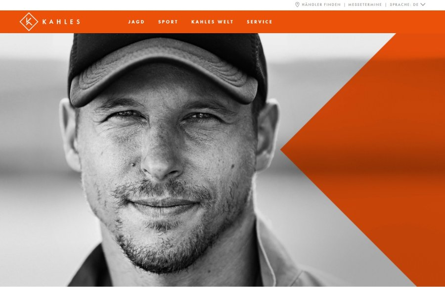 New homepage of the new website of KAHLES.