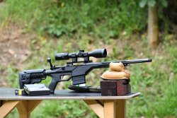 Minox ZE 5.2 2-10x50 mounted on a Savage 10 BA Stealth compact bolt action rifle.
