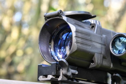 The front objective lens of the Pulsar DIGISIGHT ULTRA N355