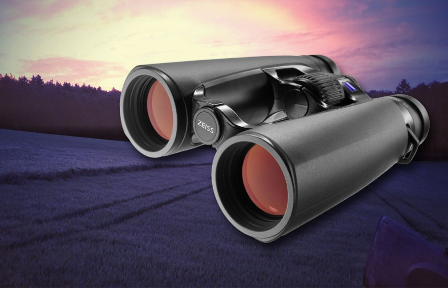 Zeiss Victory SF binoculars with sunrise in background