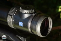 ZEISS VICTORY V8 riflescope – close-up of the eyepiece.