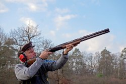 Shooting the Benelli 828U over and under