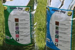 Bags of Atletic Dog food
