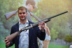 The Beretta semi-automatic A300 Outlander Silver shotgun in 12 gauge Magnum