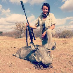 Cara Richardson and a Warthog taken with Winchester Shadow .243.