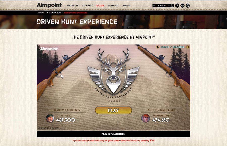 """The Driven Hunt Experience"" web game."
