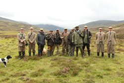 USA hunters during walked up grouse day