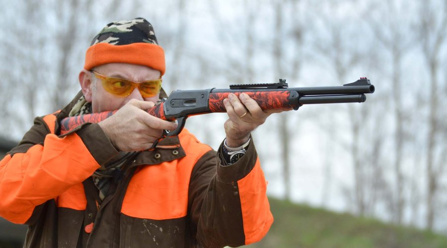 Pedersoli Boarbuster lever-action hunting rifle