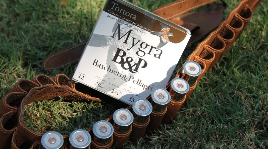 A pack of 25 Baschieri & Pellagri Mygra Tortora (turtle dove) cartridges.
