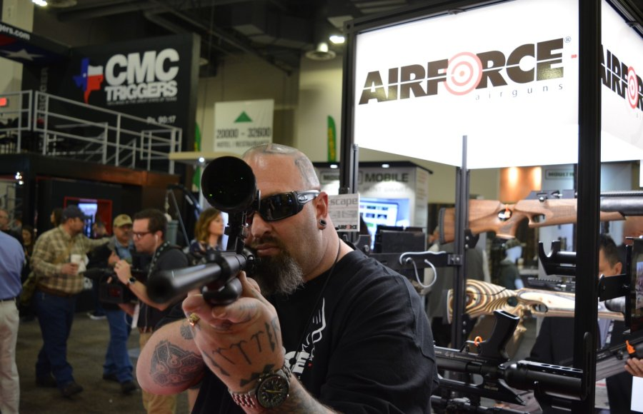The EscapeSS air rifle from AirForce Airgun showcased at the SHOT Show 2018