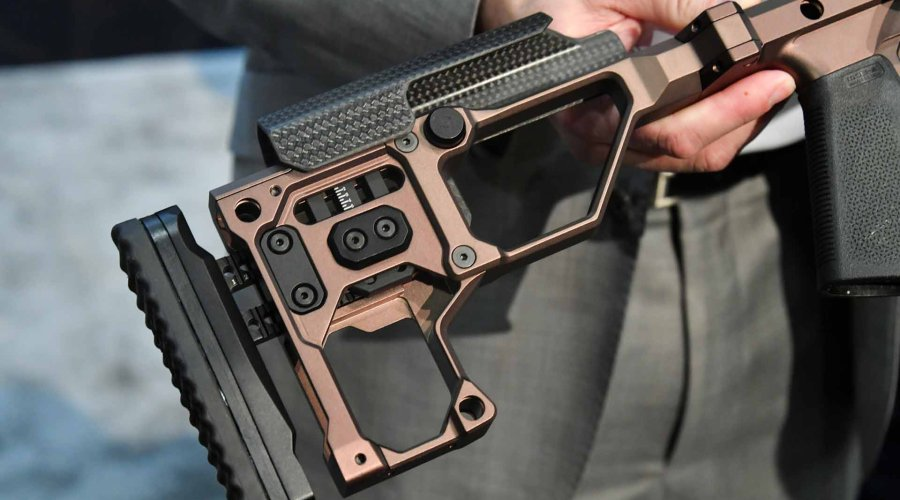 The foldable stock of the Christensen Arms MPR