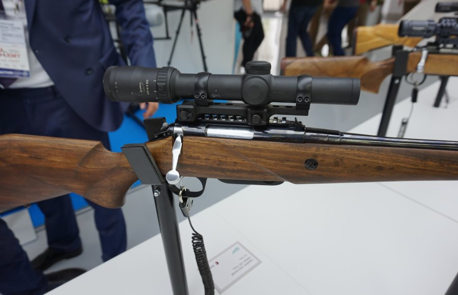 "New Baikal-145 ""Los"" (Moose) hunting rifle from Kalashnikov"" concern, at the Army-2017 expo in Moscow"