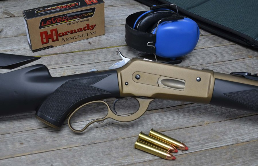 Pedersoli Boarbuster Mark II lever-action rifle with Hornady cartridges