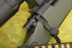 The bolt handle of the Remington Model 700 XCR II