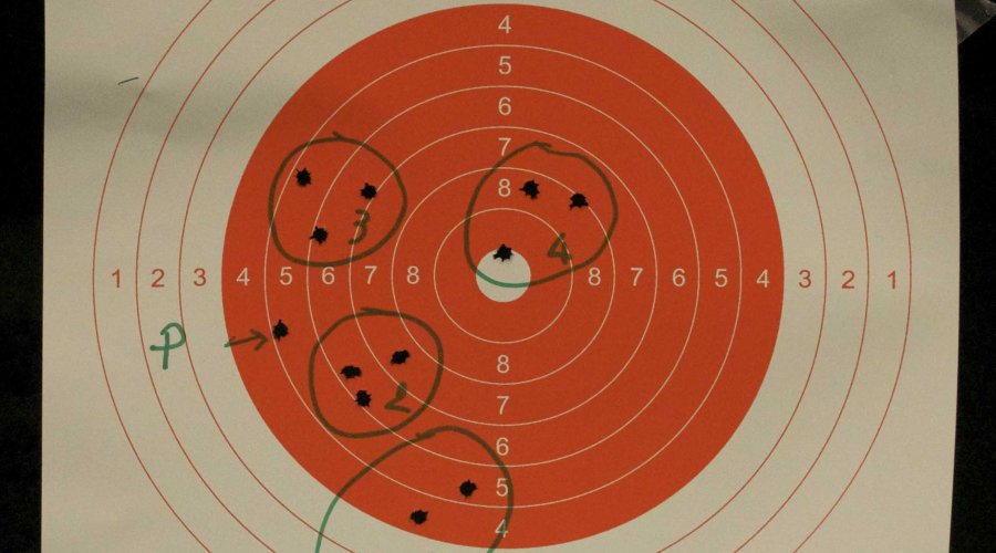 The patterns obtained with the Sabatti Compact Scout at a range of 30 meters