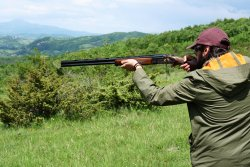 Hunter shooting with the Caesar Guerini Magnus Limited over-and-under