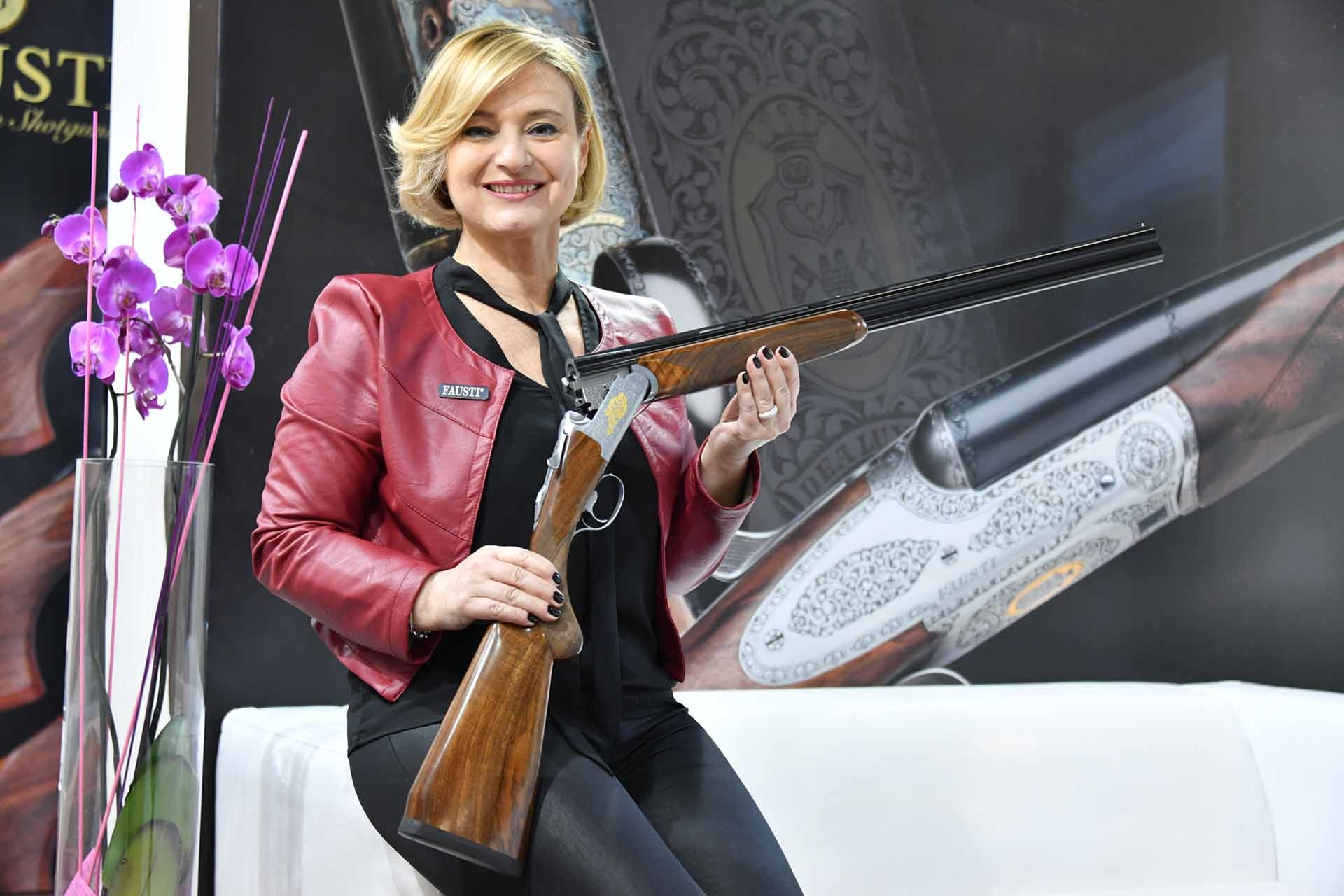 Giovanna Fausti with the new Fausti Aphrodite over under shotgun