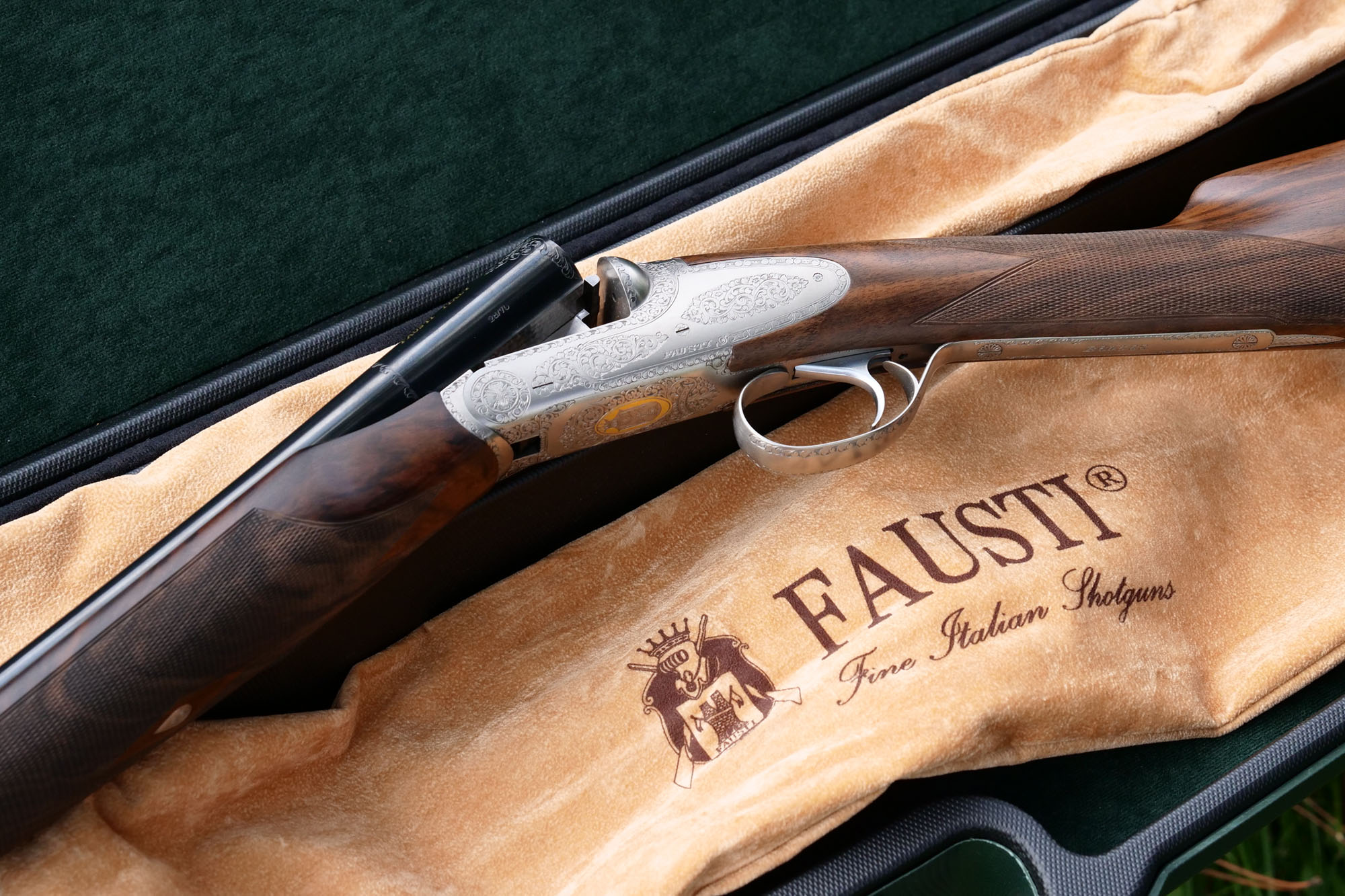Fausti DEA Luxury side-by-side 28 ga with Silver finish.