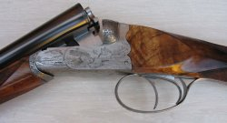 The action of a Poli Bosis double-barrelled shotgun