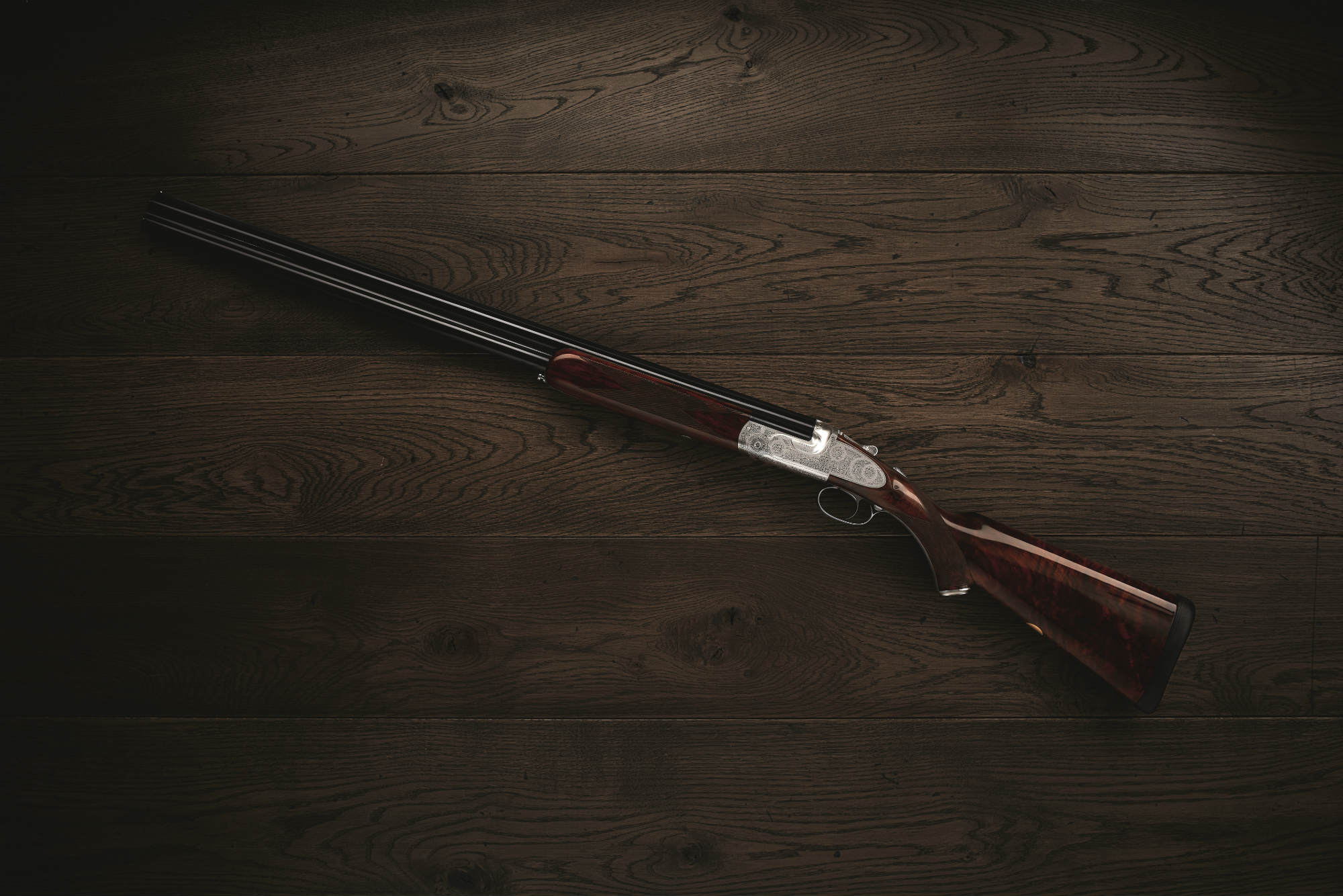The Purdey Trigger Plate over-and-under shotgun.