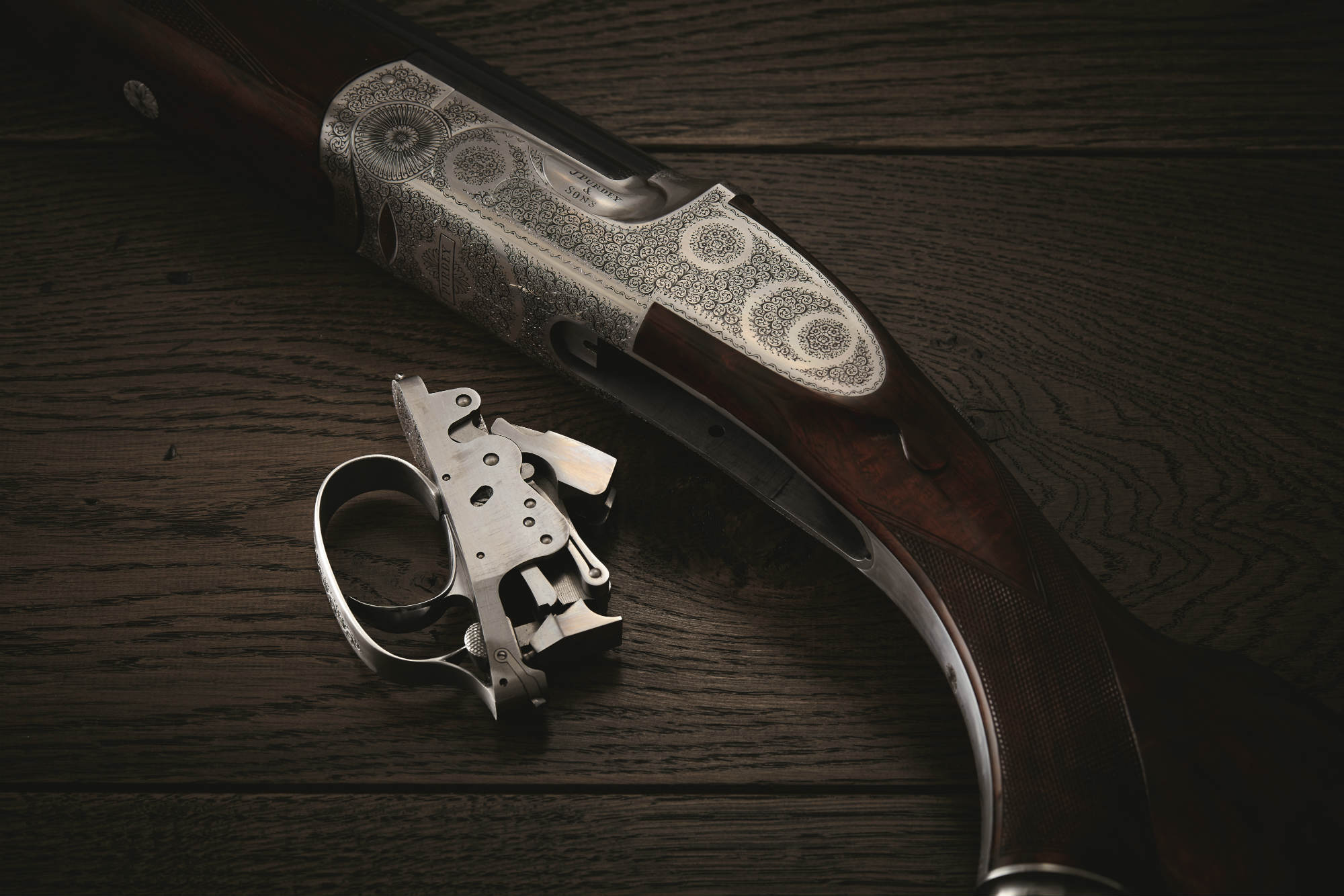 The trigger of the Purdey Trigger Plate shotgun