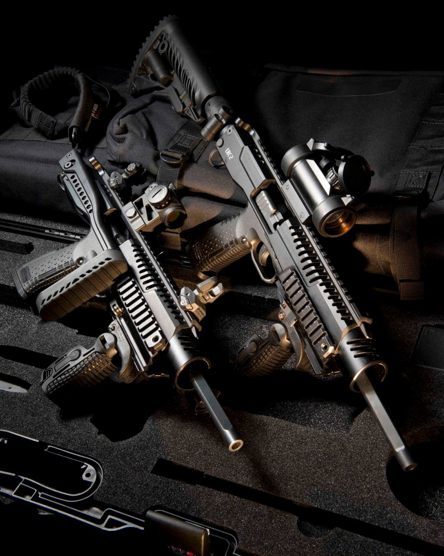 "Arsenal Firearms S.r.l. offers the LRC-2 carbine conversion kit for the ""Strike One"" pistol"