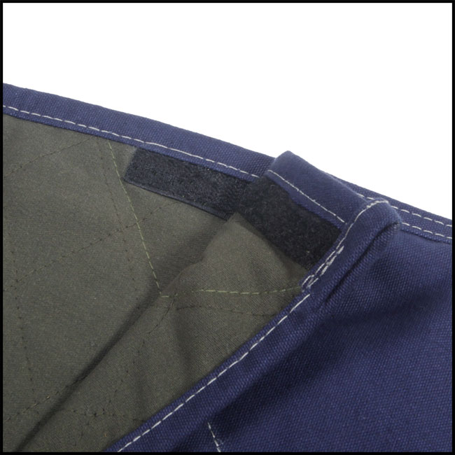 Velcro fastener on the flap