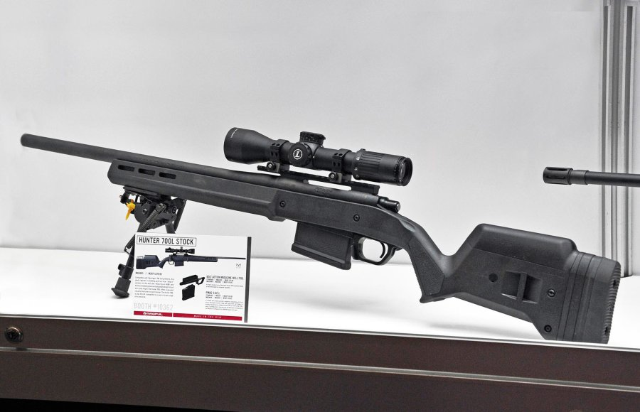 MagPul Industries introduces the Hunter 700 LA stock for Remington 700 rifles at the 2016 SHOT Show