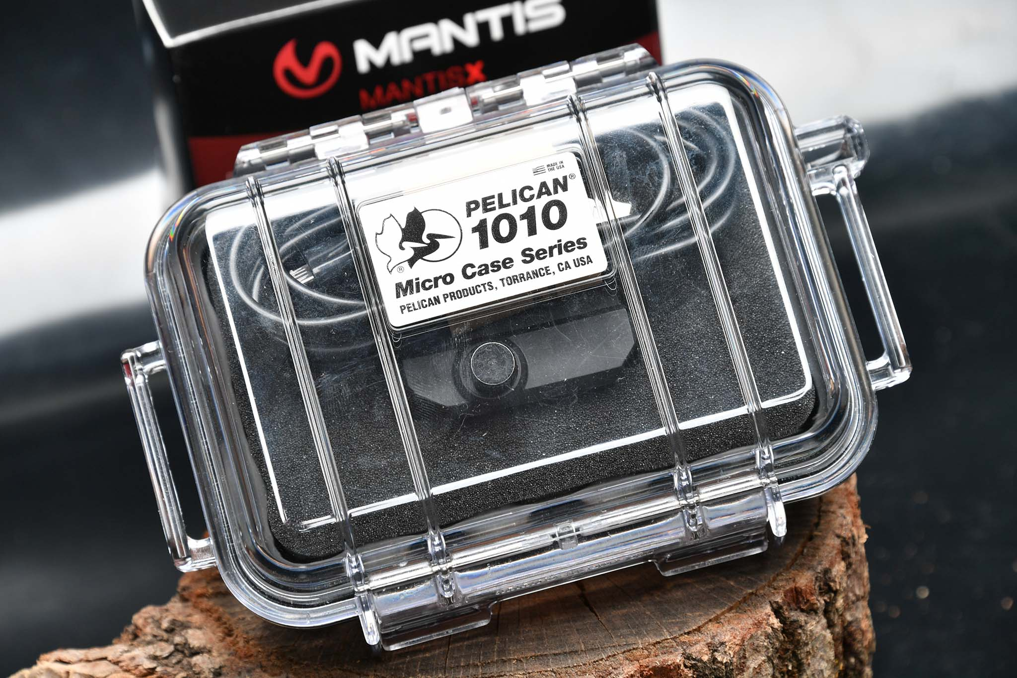 The MantisX training system inside the Pelican case