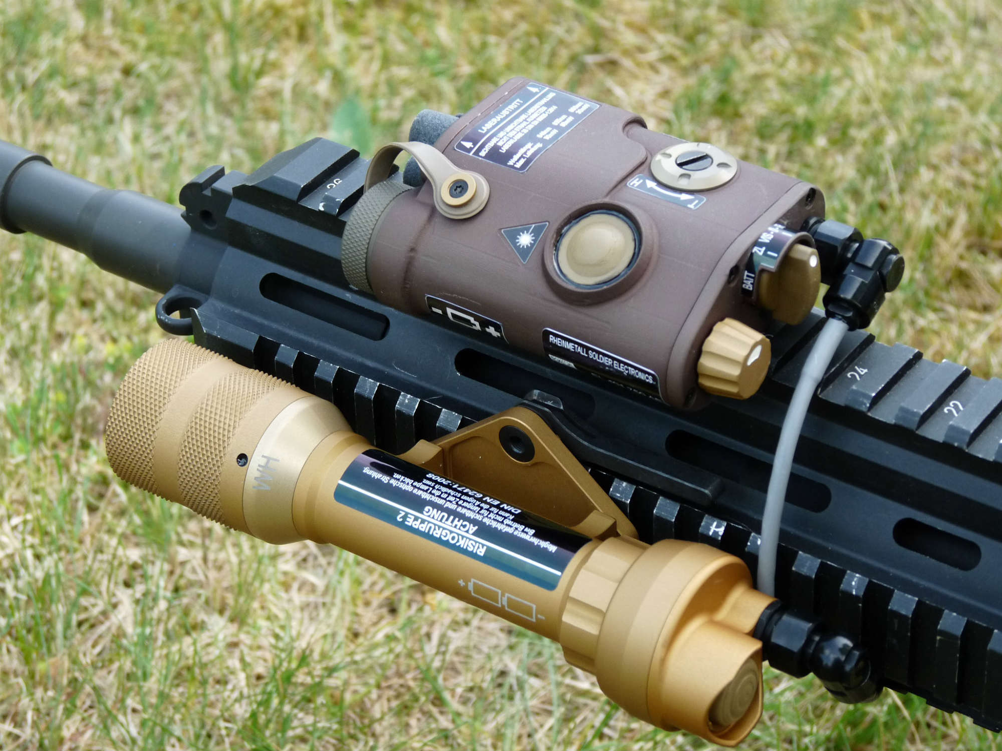 "Rheinmetall ""Variable Tactical Aiming Laser"" (VTAL)."