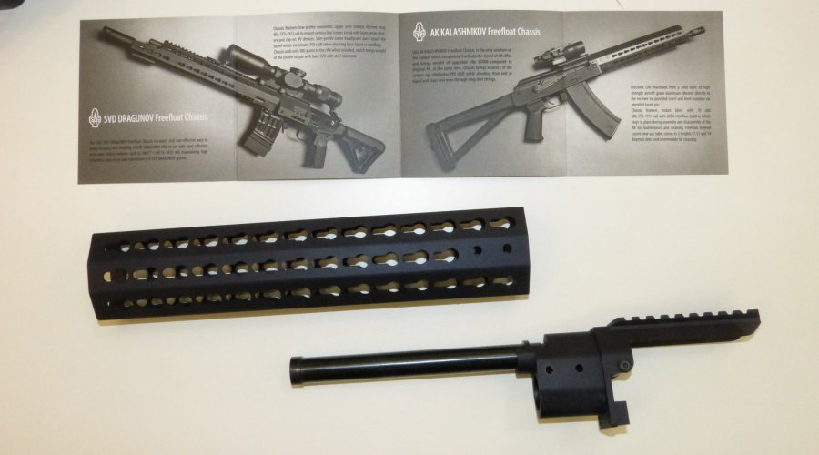 SAG AK rifle chassis with free-fload forend