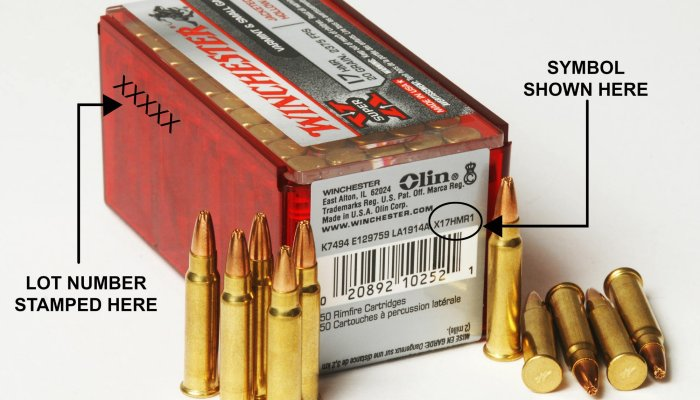 winchester-ammunition: Check your ammo! Winchester recalls two lots of .17HMR ammunition