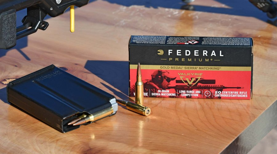 The .224 Valkyrie Gold Medal Sierra Matchking packing showcased at SHOT Show 2018