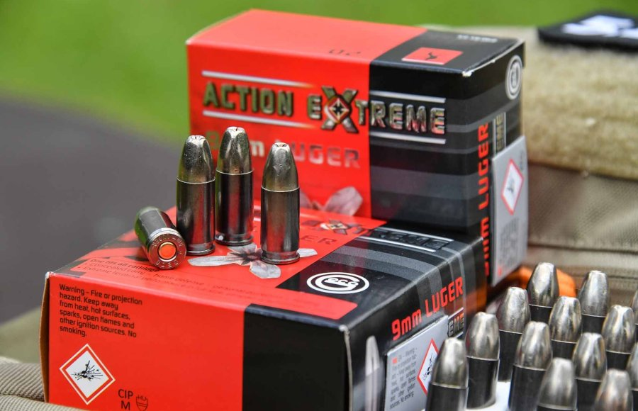 New GECO Action Extreme handgun ammunition: packaging and bullets