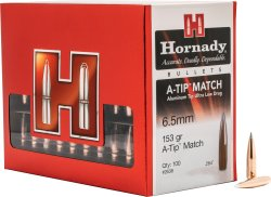 Packaging of the HORNADY A-TIP projectiles.