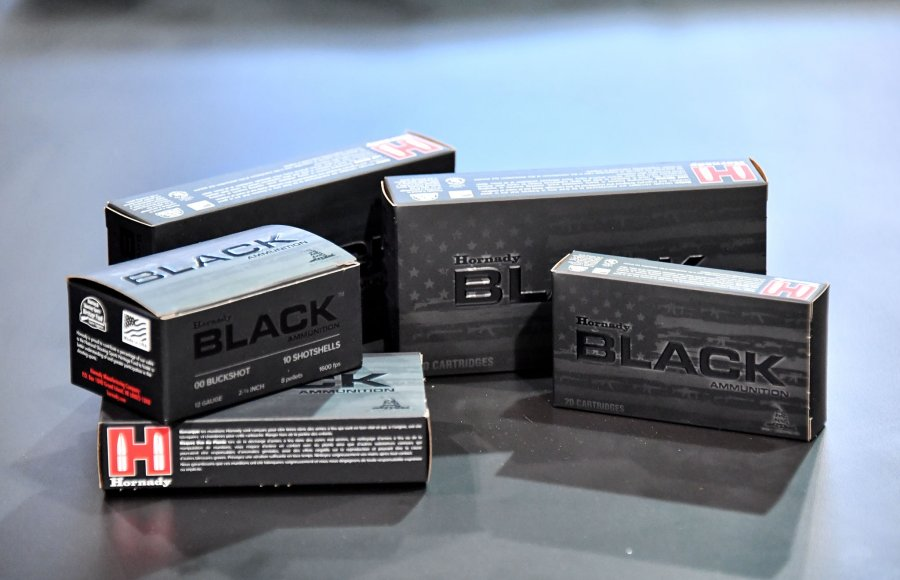 Packaging of Hornady Black ammunition