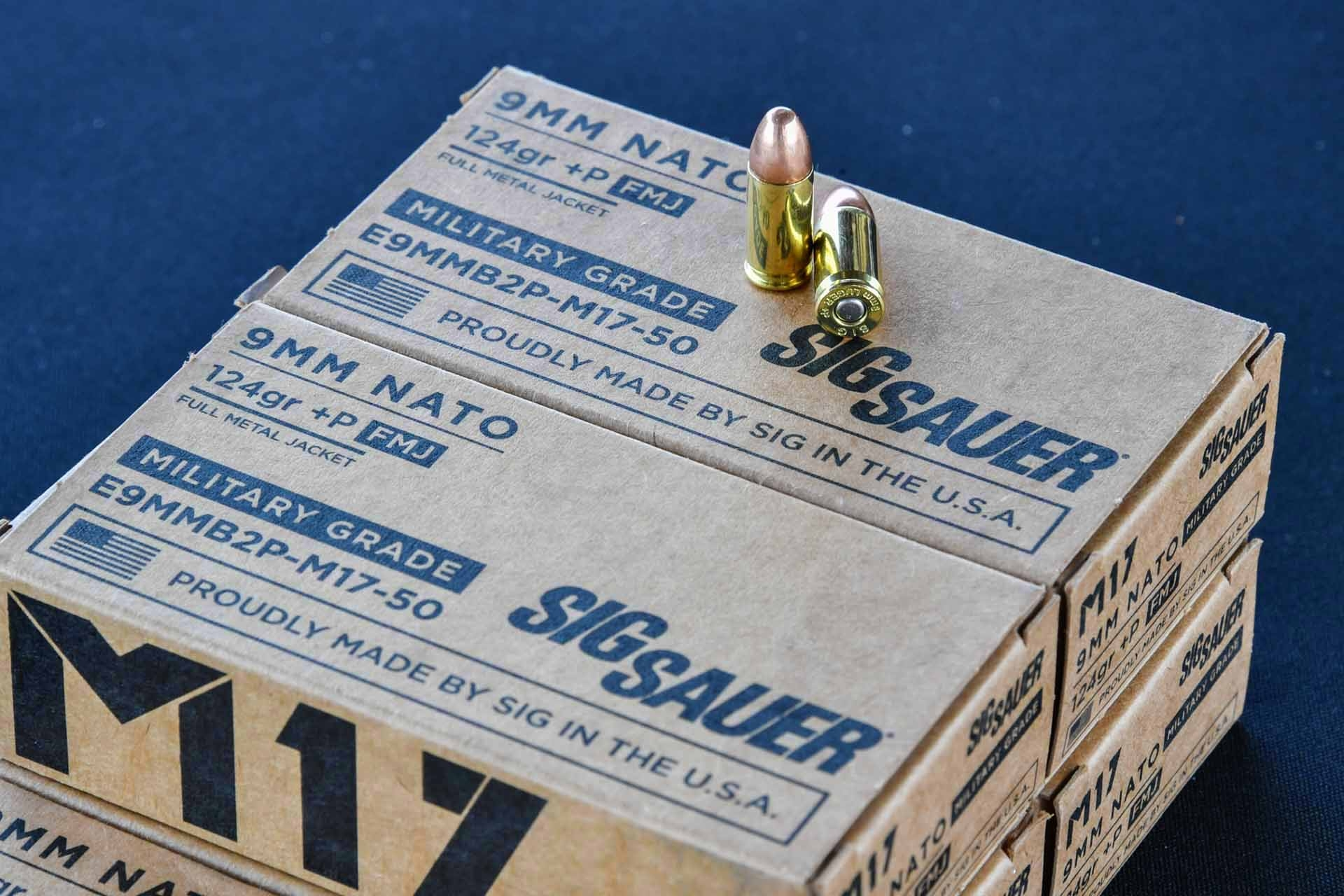 "sig-sauer: SIG Sauer Elite ""Military Grade"" 9mm pistol ammunition"