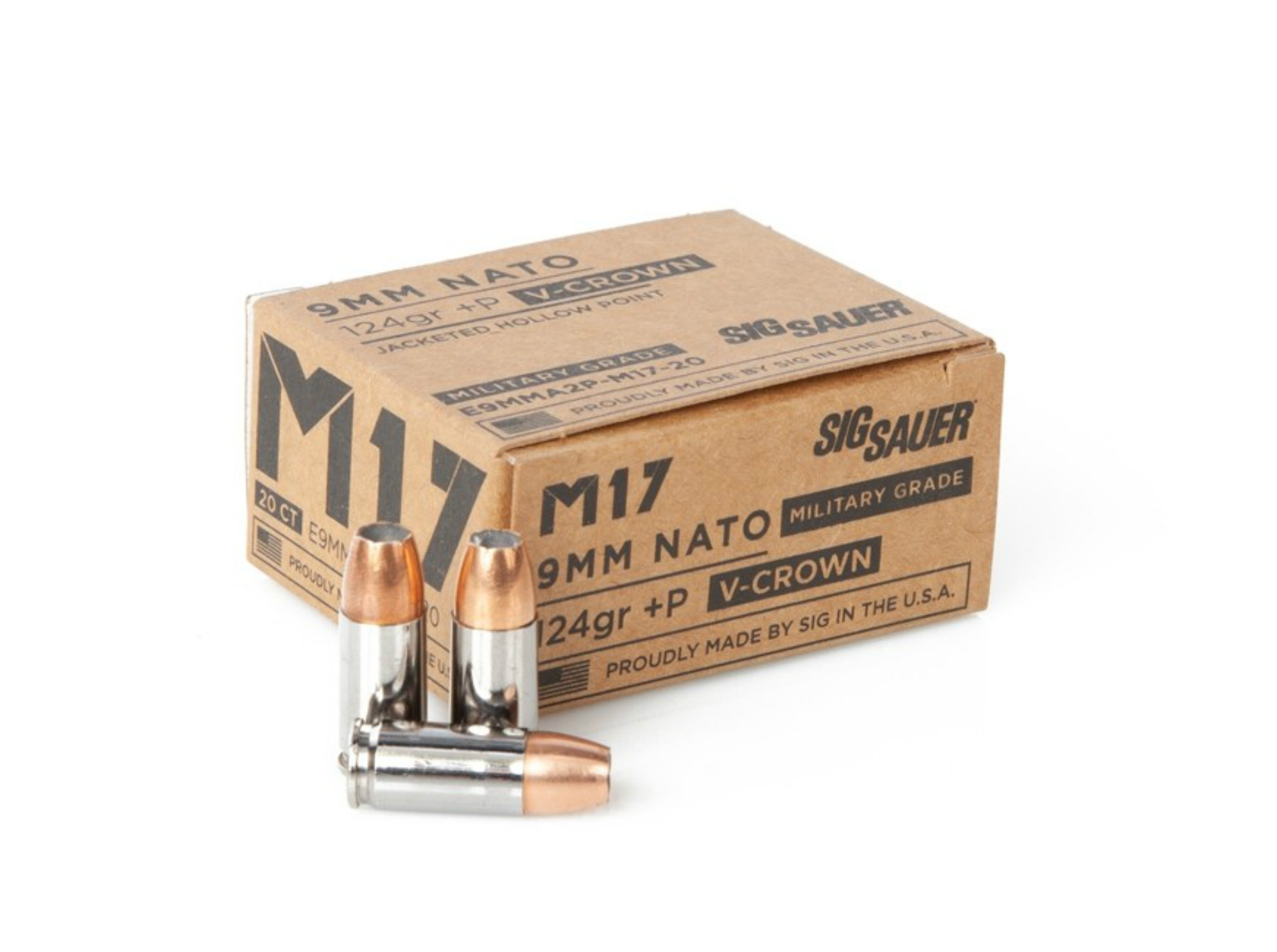 M17 124gr SIG Elite V-Crown Jacketed Hollow Point (JHP)